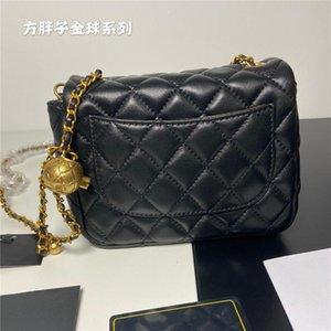 حقيبة الكتف المصممين الكلاسيكية سيدة الأزياء crossbody حقيبة اليد إلكتروني حبات حقائب الماس شعرية مصغرة مربع رفرف 2021 حقائب النساء مع مربع