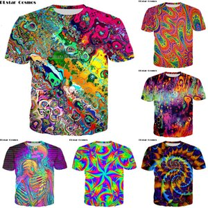PLstar Cosmos t shirt men woman 3d printed colorful Trippy summer top fashion clothes hip hop printed elepha Psychedelic Tees L0223