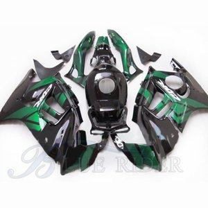 hot Motorcycle fairings for HONDA CBR 600 F3 1997 1998 CBR600 F3 97 98 green black fairing + Tank cover Injection mold ABS