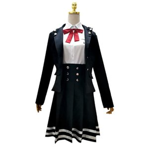 Anime Danganronpa V3 Shirogane Tsumugi Cosplay Costume JK School Girls Uniform Dresses Set Halloween Party Suits Y0913