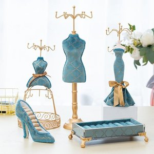 Jewelry Pouches, Bags 40GB Jewellery Displays Stand Earrings Ring Model Dress High-Heeled Shoes Rack Holder Display