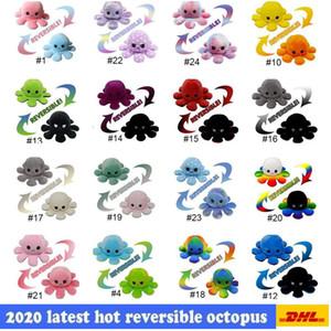 Heißer verkauf umkehrbare flip octopus plüsch spielzeug 10 * 20 cm gefüllte tiere niedlich umgedreht octopus puppe doppelseitig ausdruck octopus dhl shippin
