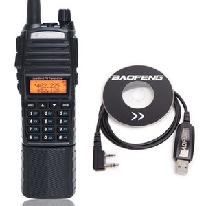 Walkie Talkie Baofeng UV-82 Plus 8W Powerful 3800mAh Battery With DC Connector Dual Band 10KM Long Range Amateur Radio+USB Cable