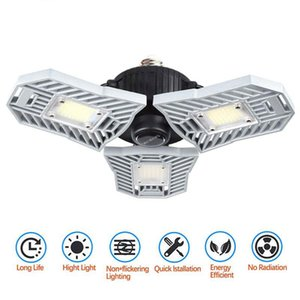 High Bay LED Garage Light 60W E27 6000LM Deformable Ceiling Lighting Ultra-Bright Mining Lamps Warehouse Lamp with 3 Adjustable Panels 2021