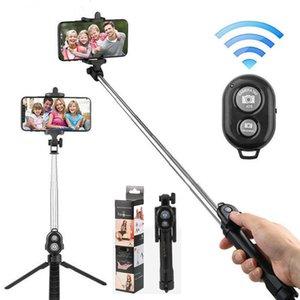 Portable Wireless Bluetooth Selfie Stick Mini Selfie Tripod With Wireless Remote Control 360 Rotation Selfie tripod Cellphone Holder