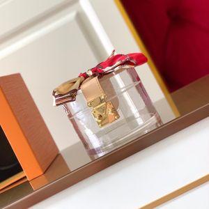 Cilindro Scott Box Glamours para sostener la joyería Maquillaje Transparente Plexiglás Reluco Metal Metal Caja Ornamental Cuadro Tocador Impresionante ATOP