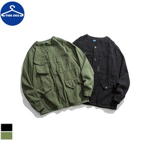 Autumn Men Casual Camouflage Cargo Jacket Outwear Zip Up Bomber Jacket Baseball Tops Zipper Thin Coat