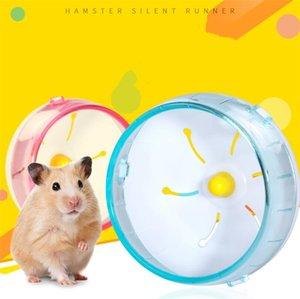 Hamster Running Wheel Plastic Mute Rotary Runner For Small Animal Sport Fitness Toy Golden Bear Hedgehog Hamsters Accessories ZC554