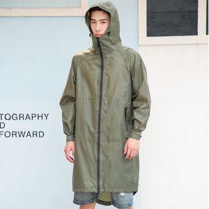 Men Backpack Women Long Waterproof hood Thin Raincoat Rain Coat Ponchos Jackets cloak Female Chubasqueros Big Size CX200 XHBMM9