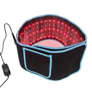 휴대용 LED 슬리밍 허리 벨트 붉은 빛 적외선 치료 벨트 통증 완화 LLLT 지방 분해 바디 쉐이핑 조각 660nm 850nm Lipo 레이저