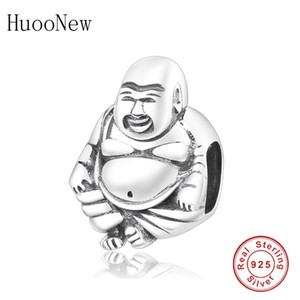 HuoOnew Fit Pandora Charms Pulseras 925 Sterling Silver Craft Buddha Retrato Beads Joyería de moda Haciendo Berloque Q0225