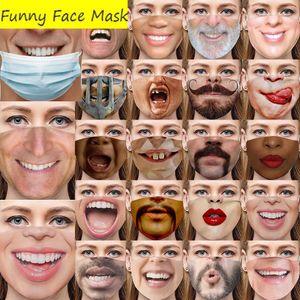2021 جديد الوجه الاصطناعي بارد مضحك البالغين يتظاهرون بعدم ارتداء قناع قناع قناع القطن وهمية وهمية واقعية صعبة