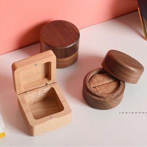 Vintage Jewelry Box Organizer Storage Case Mini Wood Rings Cases Jewelry Storager Handmade Natural Crafts EWC6363