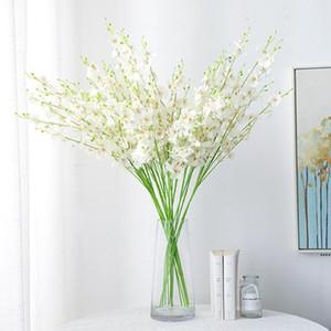 5 포크 인공 꽃 웨딩 홈 장식 Phalaenopsis 꽃다발 실크 꽃 장식 크리스마스 HWD5256