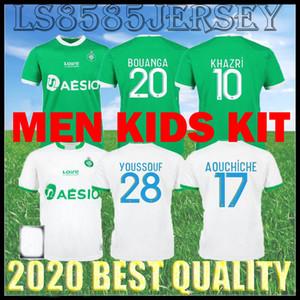 KIT KIT 20 21 21 Maillot ASSE Soccer Jersey 2020 2021 come Saints-Étienne Bouanga Khazri Youssouf Boudebouz Hamouma uomo Camicia da calcio