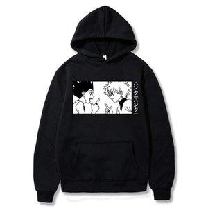 HON и Killua Hoodie Streetwear Anime Hunter X Hunter Hoodies Pullover Мужчины Женщины Осень Harajuku Tops Одежда X0601