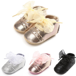 Baby Girls Shoe Moccasins Soft Newborn Shoes Infant Shoes Lace Bows First Walking Shoe Girls Footwear Princess 0-1T B4022