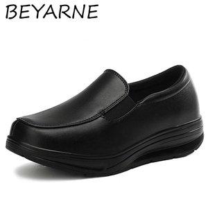 Beyarne Mokassins Frau Arbeit Walking Keilschuhe Schütteln Schuhe