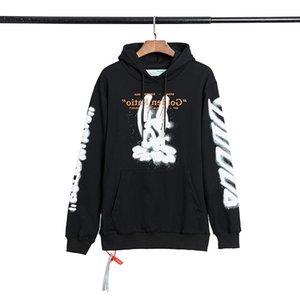 HIP HOP OFF COBBIT Head Pintar pintura Arstyle Imprimir Sweater Sweater Style Capa de los hombres