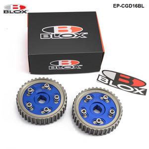 Blox Racing 2pcs 조정 가능한 캠 기어 풀리 캠 풀리 세트 혼다 시빅 Integra의 D16A SOHC 96-00 입구 및 배기 EP-CGD16BL