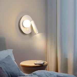 4W LED Wall Lamps 180 degree rotation Bedroom Beside Reading Wall Lights Indoor Living Room Corridor Hotel Lighting Decoration R193