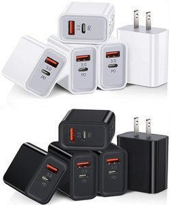 Fast Quick Chargers Eu US 20W USB-C PD Type C QC3.0 Wall Charger For Samsung S10 S20 S21 Note 20 Lg