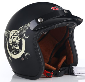 Motorcycle Helmets 2021 Dot Approved High Quality Vintage Helmet Retro Scooter Jet Open Face Casco Motorbike Bicycle Riding Capacete