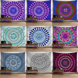 Mandala Tapestry Colorful Bohemian Tapestry Wall Hanging For Bedroom 130x150cm Polyester Yoga Mats Home Decoration 18 Patterns HWD5079