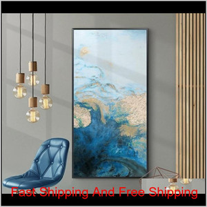 Print Poster Room And Living Oil Art Wall Decoration Abstract Large Room Canvas Dining Blue Painting Art Home Nordic Wall Pictures Rb9 Qhhmo