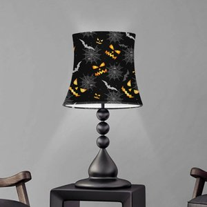 Lamp Covers & Shades Halloween Pattern Table Lampshade Bedroom Shade Decoration Dust Proof Cover Washable Screen Pantalla Lámpara