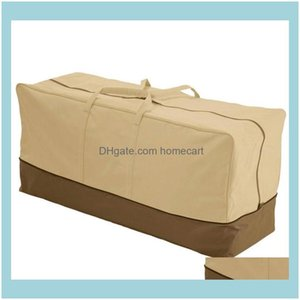 Bags Housekeeping Organization Home & Garden420D Waterproof Outdoor Furniture Cushion Er Storage Bag Dustproof Drop Delivery 2021 Wgp7U