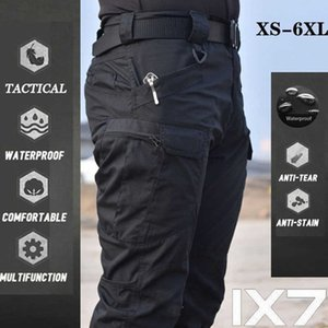 Plus Size 6XL Cargo Hiking Pants Men Tactical Multi Pocket Outdoor Pants Military Army Waterproof Quick Dry Elastic Trouser X0626
