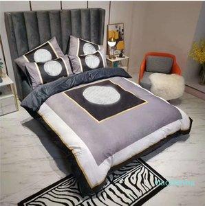 3D Digitaldruck 4PC Bettbezug Kissenbezug Doppelbett Set Blatt Abdeckung Quilt Bettwäsche Weihnachten 200 * 230cm Modesstile