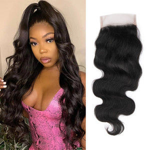 NamiBeauuty 4x4-Spitze-Verschlusskörper-Welle Brasilianisches Reines Haar frei / mittlere / drei Teile natürliche Farbe
