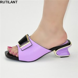 Dress Shoes Selling Italian Style Slingbacks African Woman Slippers Simple Party Prom Summer Sandals Italy High Heels Women Wedding Shoe