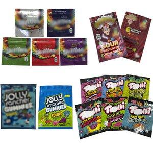 Borse di imballaggio Edibles vuoto Golly Rancher 600mg Warheads 600mg Gummi Candy Mylar Bag Aid Medicated Cubetti gommosi