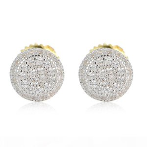 Mens Hip Hop Jewelry Iced Out Diamond stud Earring Pandora 925 Pure Silver Earings Gold Silver Women Accessories