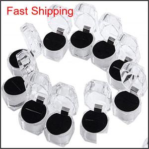 Прозрачные пластиковые кольца Серьги Дисплеи Ящики Подвесные Бусины Хранения Организатор Ящики Пакет Чехол Подарок Ювелирные Изделия Коробка 7Wiri AEBMJ