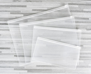 Waterproof Plastic Zipper File Folder Pencil Pen Bag Document Bag for Office Student Supplies A4 A5 A6 B5 W0004