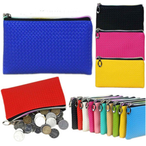 Lady Womens Card Coin Pocket Coins Bag Key Holder Zip Faux Leather Wallet Pouch Bag Purse Make UP Creative Phone Bags