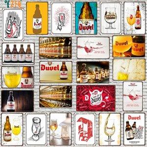 Yzfq belgium cerveza metal vintage signos decorativos bar bar casa restaurante cocina hombre cueva decoración vintage 30x20cm du-9287a q0308