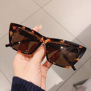 New Fashion Cateye Frame Occhiali da sole Donne Classic Quadrato Square Retro Specchio Sole Occhiali da sole Uomini Street Beat Lunette De Soleil Femme (1)