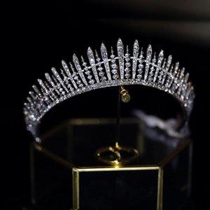 FIDDY898 Crystal Vintage Royal Queen King King Tiaras et Crowns Hommes / Femmes Pageant Bal Diadem Cheveux Ornements De Mariage Cheveux De Mariage Bijoux