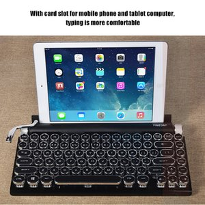 83 anahtar nokta retro daktilo klavye kablosuz bluetooth mekanik klavye gameKeyboard Teclado mecnico de mquina de escribir