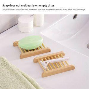 100 pz Vassoi in bambù naturale all'ingrosso piatto di sapone in legno portata sapone in legno porta vassoio rack piatto contenitore per bagno doccia bagno 41 S2