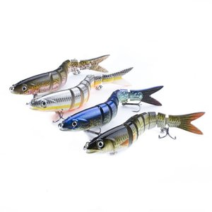 14cm 23g Sinking Wobblers Fishing Lures Jointed Crankbait Swimbait 8 Segment Hard Artificial Bait For Fishing Tackle Lure 221 X2