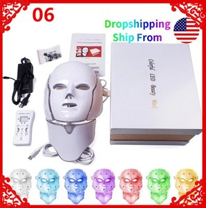 7 color light sensitive skin rejuvenation LED mask phototherapy beauty acne whitening wrinkle USA warehouse DHL