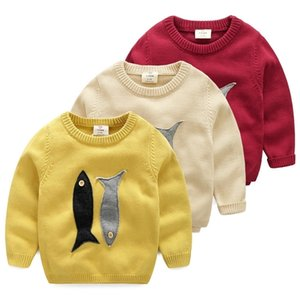 Spring Autumn Winter 2-10 Years Old Teenage Christmas Gift O-Neck Knitted School Child Cartoon Baby Kids Boys Sweaters 201202