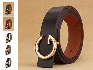 High Quality genuine leather woman luxury belts Brand Belt for woman's Jeans G buckle Strap Waistband Round Ring buckle cowskin C0306