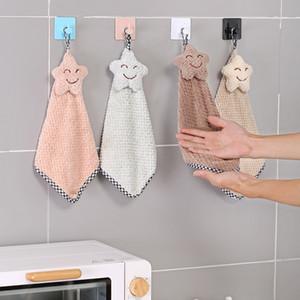 Handkerchief kitchen hanging cartoon cute smiling face Korean children's toilet handtowel super absorbent